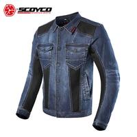 SCOYCO Motorcycle Jacket Men Biker Denim Jacket Motocross Biker Jean Jackets Chaquetas Outerwear Jaqueta Moto Protection