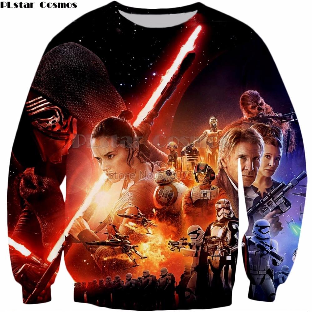 2019 Mode Plstar Cosmos Drop Verzending 2018 Nieuwe Stijl Sweatshirt Mens Womens Hoodie Movie Star Wars: De Force Wekt 3d Print Sportkleding