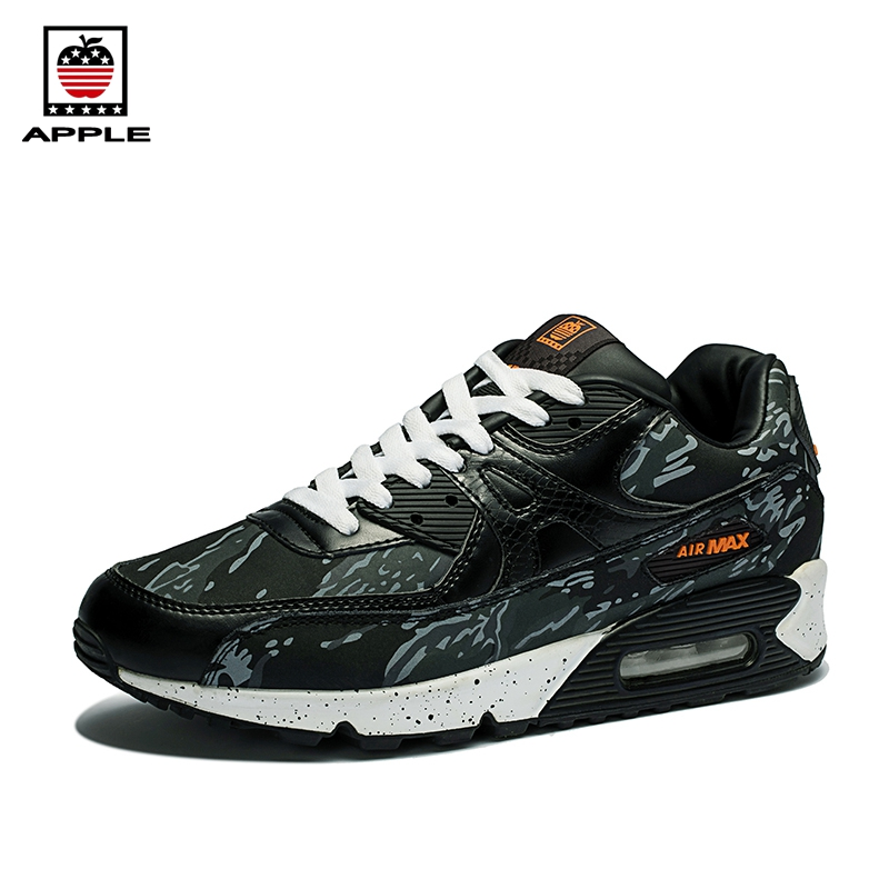 Apple 2017 hot sale men's Air Sole Breathable Athletic Shoes Brand new Original quality air cushion 90 sport running shoes kelme 2016 new children sport running shoes football boots synthetic leather broken nail kids skid wearable shoes breathable 49