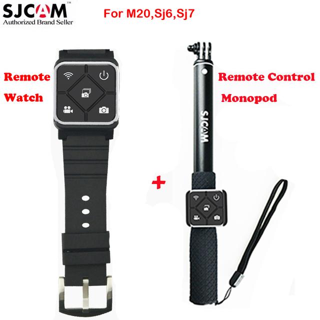 Relógio Controle Remoto + Controle Remoto Monopé para Sjcam Original Sjcam M20 Sj6 Lenda Sj7 Star Sports Action Camera DVR