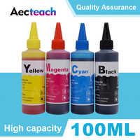 Aecteach universal 100ml recarga tinta tintura kit para canon para hp para o irmão todos os modelos impressora tinta ciss tinta voor inkt tanque