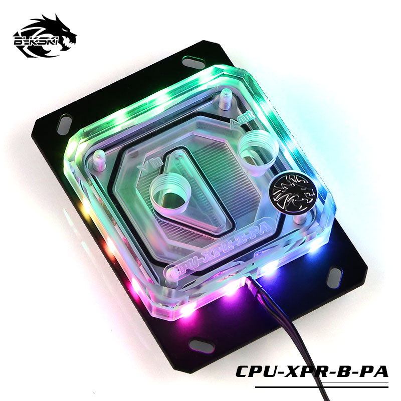 Bykski  cpu water block for AMD platform, 2.0 5v rbw lighting system game cooling kit computer using ,cpu cooler CPU XPR B PA-in Fans & Cooling from Computer & Office    1