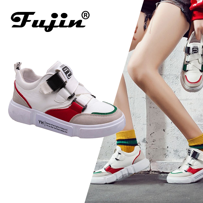 Fujin Brand Women Casual Flats Spring Autumn Female Shoes Buckle Strap Pu Leather Shoes for WomenFujin Brand Women Casual Flats Spring Autumn Female Shoes Buckle Strap Pu Leather Shoes for Women