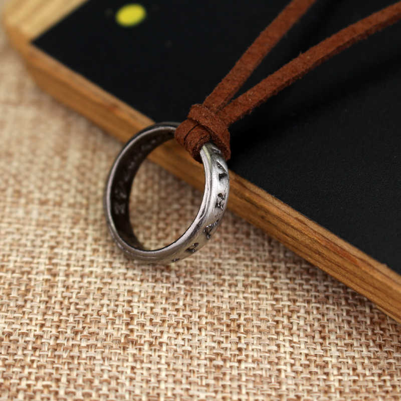 RJ Hot Sale Letter SIC PARVIS MAGNA Drake Round Pendant Neckalce High Quality  Mysterious Waters 4 Men & Women Necklaces Gift