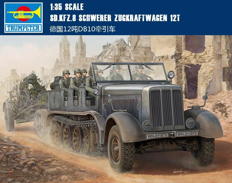 Trumpet 01583 1:35 World War II Germany DB10 12 ton tractor Assembly model ae 75006 1 24 world war ii us marine corps stretcher squad