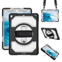 For iPad Case 10.5 Pro Shockproof Heavy Duty Protection Tablet Cover with 360 Hand Strap and Neck for inch-Miesherk