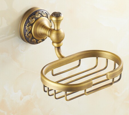 Wall mounted Antique Soap Dishes / Soap Holder/Soap Case Bathroom Accessories high quality soap basket bathroom shelf antique brass soap dish basket holder wall mounted soap holder bathroom accessories hardwares bathroom shelf