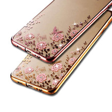 Bling Back Case for Samsung Galaxy S7 Edge S8 Plus S6 S5 S4 S3 Case Silicone Coque Cover for Samsung A3 A5 J7 J3 J5 2016 2017