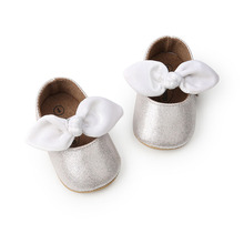 WONBO New Style Baby Girls Princess Shoes Soft Sole Infant First Walkers Fashion Butterfly-knot Moccasins