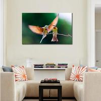 HD Animals canvas prints Modern couple branch wings flap Unframed Birds Painting Home Decoration Living Room Bedroom Decor