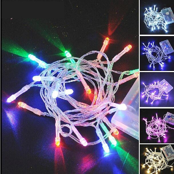 tienda online nueva batera luces led para rboles de navidad color opcional a prueba de agua metros rbol de navidad led aliexpress
