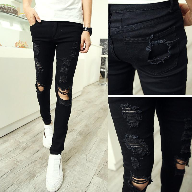 Ripped Jeans Mens Skinny | Bbg Clothing