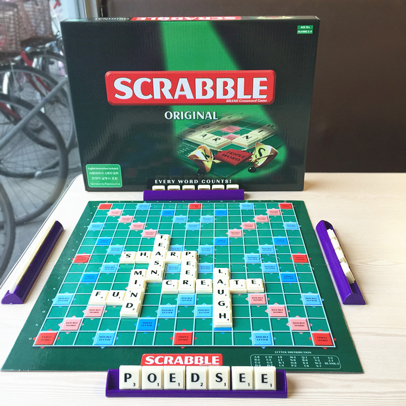 1 Set Scrabble Tiles Board Game Letter Puzzle Toys Dinner Party Games Kids Toy Parent and Children Play Crossword Spelling Games