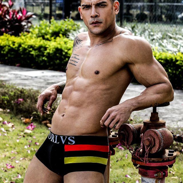 ORLVS Brand Men's Underwear Sexy Boxers Mens Boxer Shorts Hommes Comfortable Hombre Man Underpants Male Calzoncillos Men Boxers