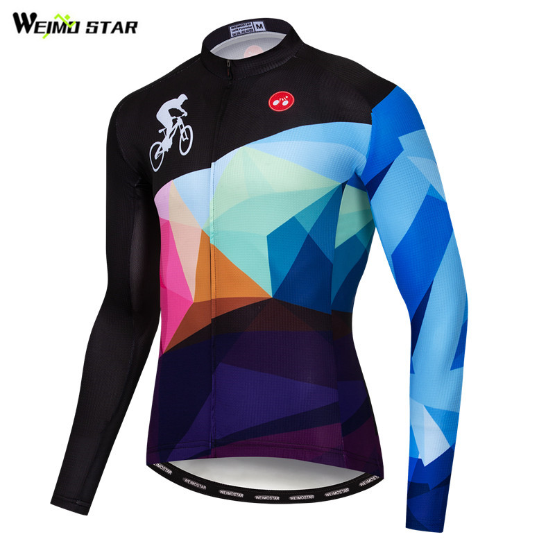 Weimostar 2019 Pro Team Cycling Jersey Autumn Long Sleeve Racing Sport Bicycle Cycling Clothing Reflective Mountain Bike Jersey