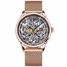 Agelocer Luxury Brand Watches for Men Skeleton Automatic Watches 80 Hours Power Reserve 18K Rose Gold Sport Watches relojes homb