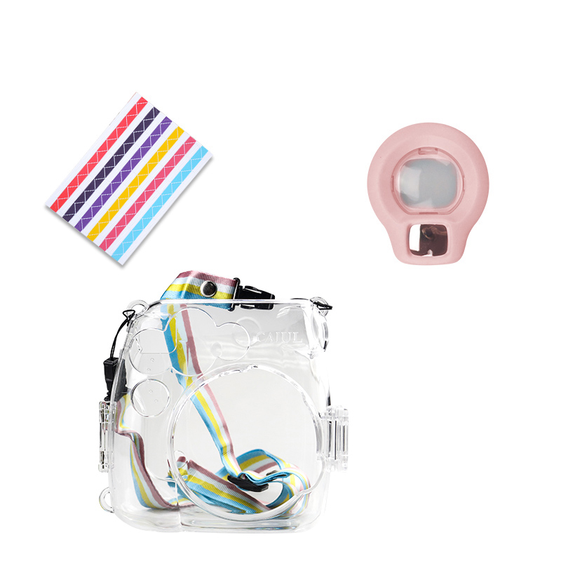 Fujifilm Instax Mini 9 8 Film Camera Accessories Close-Up Lens Self-Portrait mirror with Transparent Plastic Protect Bag Case