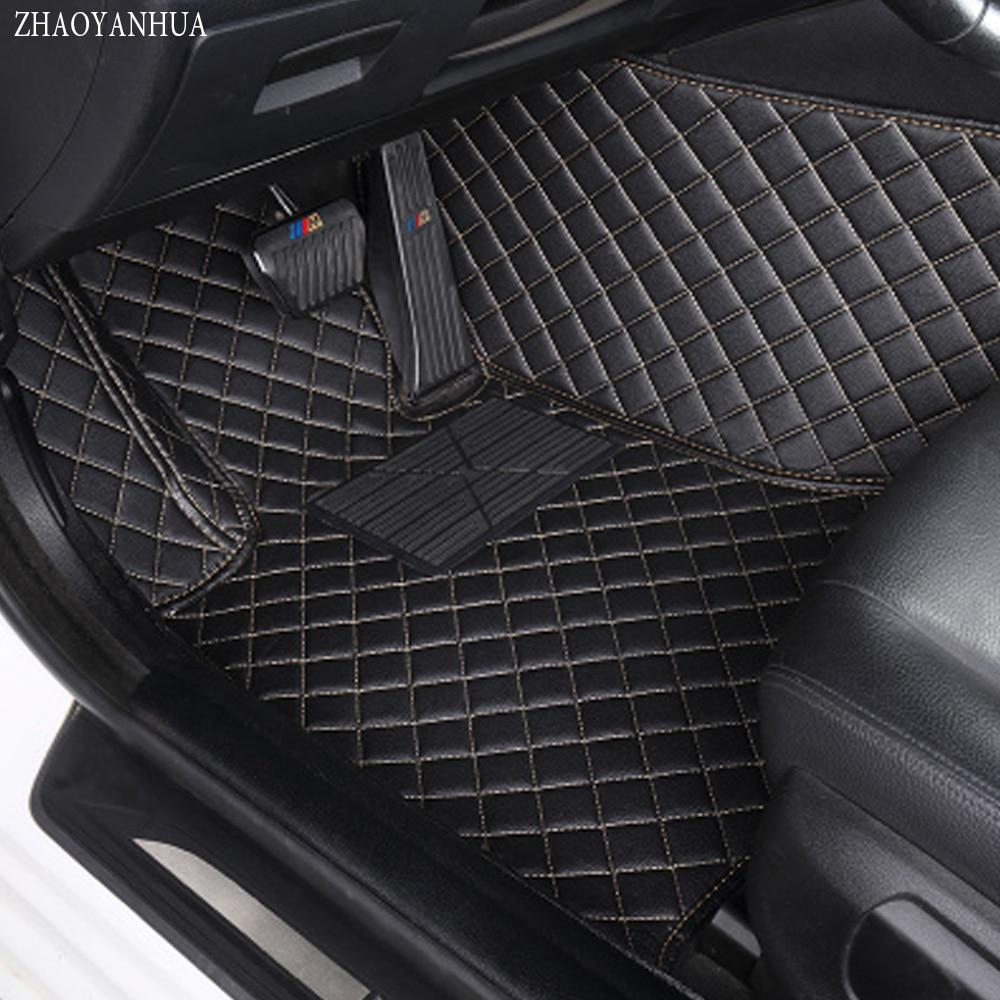 ZHAOYANHUA Special car floor mats for Kia Sorento Sportage Optima K5 Forte Rio Cerato K3 leather Anti-slip car-styling carpet li