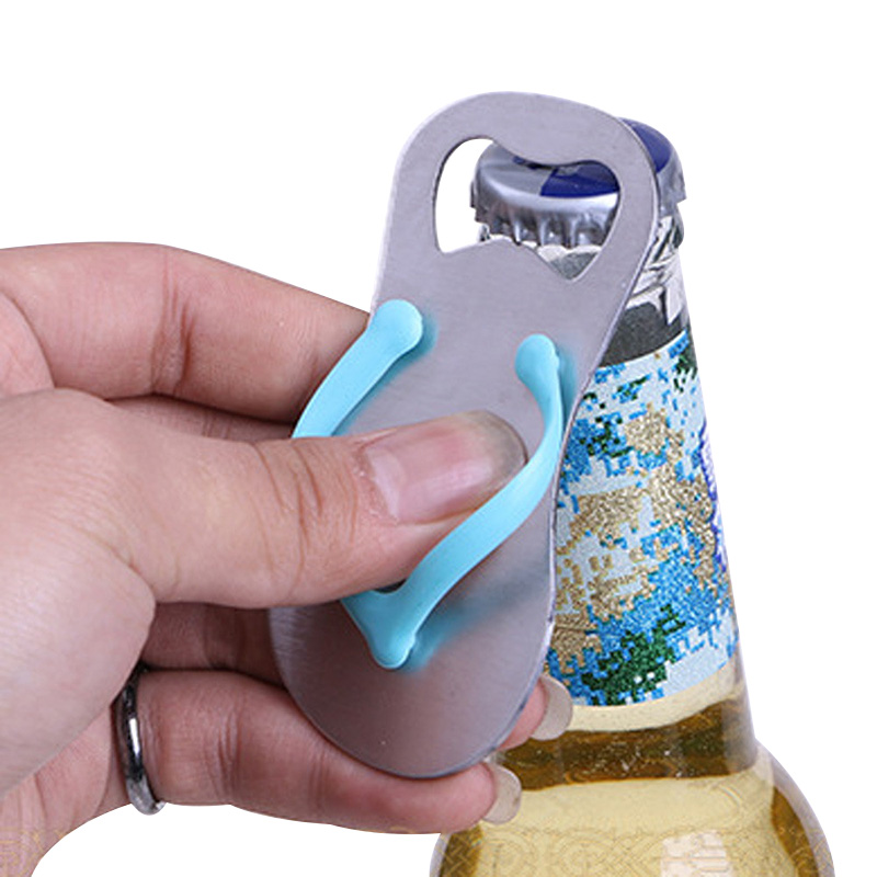 Beer Bottle Opener 4 In 1 Slipper Stainless Steel Pocket Beer Bottle Opener Can Random Colors Wedding Favor Gifts Free Shipping