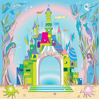 Thin Fabric Cloth Printed Photography Background Children S Castle Backdrop 5ft X 7ft D 747