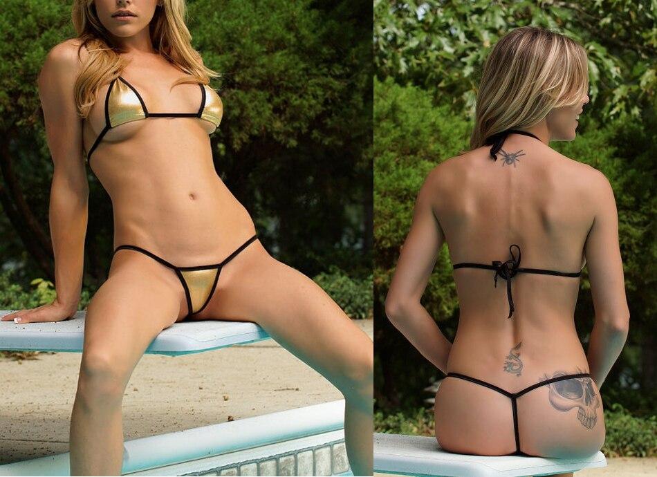 37f7bf3283 2019 Minimal Coverage Sunbathing Micro Bikini Teardrop Mini G String ...