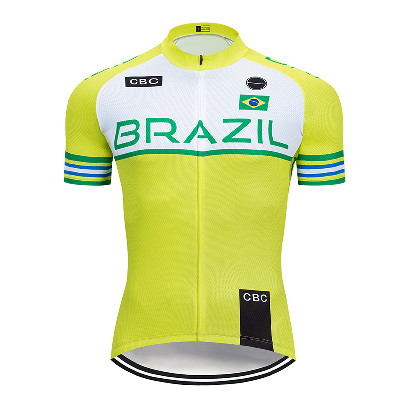 2019 Team Brazil Cycling Jersey Mtb Shirt Bicycle Clothing Quick Dry Bike Wear Clothes Mens Short Maillot Roupa Ropa De Ciclismo