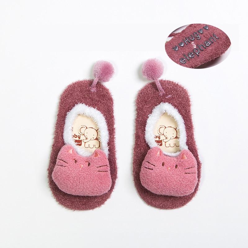Baby Socks Unisex Winter ThickWarm Baby Thick Socks Velvet 6 Pairs Anti-slip Socks Toddler Socks