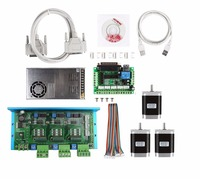 CNC Router 3 Axis Kit, TB6600 3 Axis stepper motor driver+mach3 5 axis breakout board + 3pcs nema23 270oz in motor+power supply