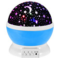 LED Rotating Star projection Lamp Monkey Moon&Stars Night Light Christmas Gift For Children 6 Patterns can selected