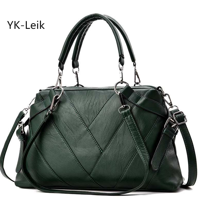 2018 European and American fashion retro high-capacity handbag Boston women bag High quality PU leather women shoulder bags 2017 autumn european and american fashion women s handbags high end atmosphere banquet tote bag dhl speedy shipping