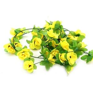 Image 3 - 가짜 실크 장미 꽃 아이비 포도 나무 인공 꽃 녹색 잎 홈 웨딩 장식 매달려 갈 랜드 홈 장식