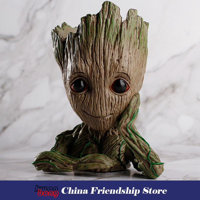 groot Guardians of the Galaxy, Baby Groot , Figure Toys Flowerpot Planter, Tree Man Cute Model Toy Pen Pot Action Figures aged 1 5 toddler children kids boy bagpack rabbit backpack canvas kindergarten school book shoulder bags rucksack mochila 130296