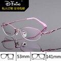La moda de nueva 8283 mujeres gafas de marco enmarcan los marcos ópticos anteojos ópticos titanium del marco óptico
