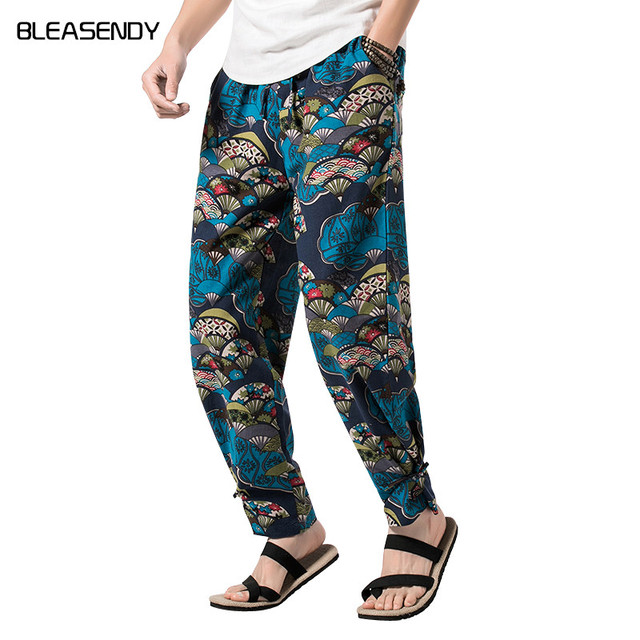 4b4f13506e3a 2018 Men Clothing Summer Men s Hawaiian Harem Pants Fashion Casual Floral  Pattern Trousers Male Chinese Style Brand 4XL 5XL