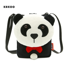 KAKOO Children Inclined shoulder bag Kids Shoulder Bags  Cute boy Plush Cartoon Baby Small Coin Purses Mini Phone Bag