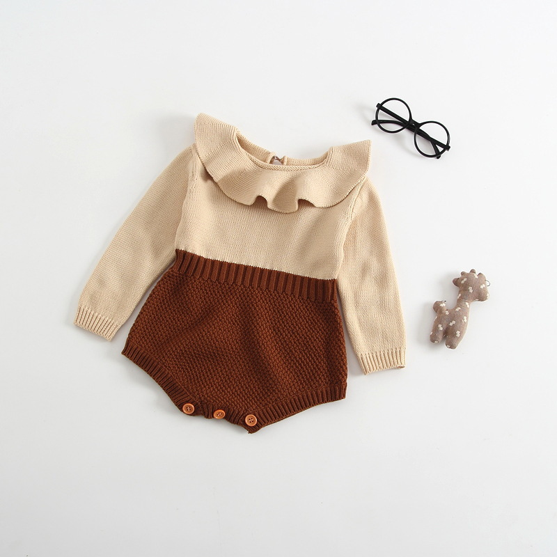 Newborn Baby Girl Clothes 2018 Autumn Full Sleeves Toddler Infant Body Suits Super Soft Cotton Knitted Bebe Kids Onesie Princess