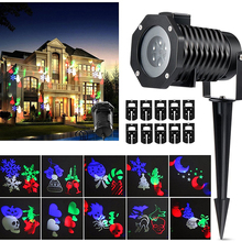 Laser Projector Lamps LED Stage Light Heart Snowflake Christmas Party Landscape Light Garden Lawn Lamp Outdoor Lighting недорого