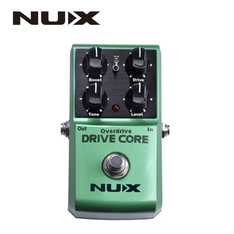 NUX Drive Core Guitar Violao Parts Electric Effect Pedal Mixture of Boost and Overdrive Sound True Bypass nux loop core violao guitar effect pedal durable guitarra effect pedal 6hours recording time guitar accessories