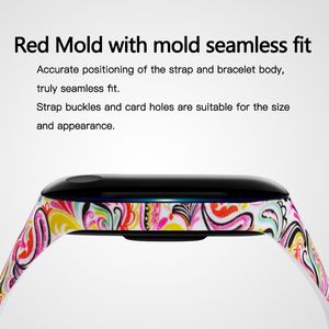 Image 3 - BOORUI mi band 3 strap Comfortable Colorful mi band strap with varied flowers printing for xiaomi miband 3 smart bracelets