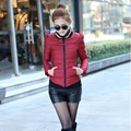 2016 Winter Jacket Women Coat Short Thick Slim Hood Down Parkas Black M-XXL