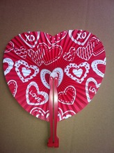 Buy wedding program fan and get free shipping on aliexpress fly eagle 100pcs x wedding heart fan program paper kit pack solutioingenieria Image collections