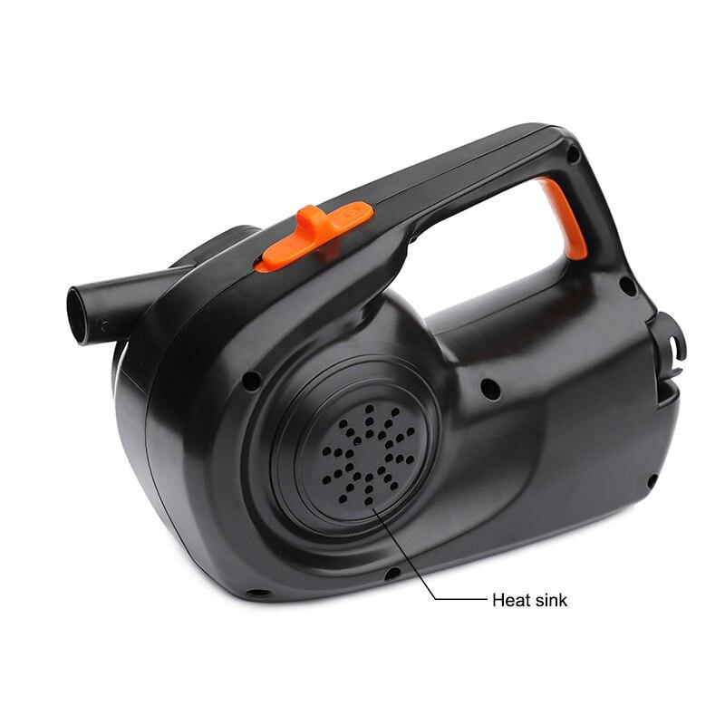 Pompe à air gonflable électrique de pompe Rechargeable de HT-338 pour la puissance élevée 80 W de matelas de lit d'air de Kayak de bateau gonflable