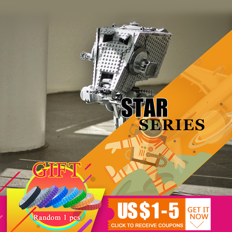 05052 1068Pcs Star Classic Series War The Empire AT Model ST Robot Set Compatible with 10174 Building Blocks Toys gonlei in stock 05052 1068pcs new star war series the empire at st robot building blocks bricks set toys 10174