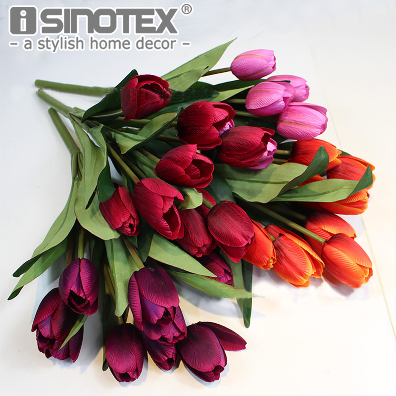 9 Heads Gorgeous Silk Tulips Artificial Flowers Wedding/Home/Party Decor for Home&Living ...