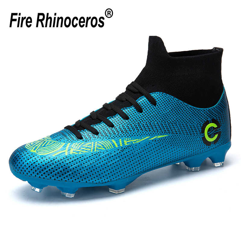 90fe08302 Centipede Football Boots Man Soccer Artificial Grass Original FG Superfly  High Ankle Kids Shoes Crampons Outdoor