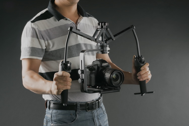 Hand Grips Handheld Stabilizer Rig Video Gimbal Steadicam Steady Stand for canon nikon DSLR Camcorder DV 5D3 6D 7D Camera free ship professional new video capture stabilizer bracket shoulder rig for canon nikon dv dslr hd digital camera camcorder