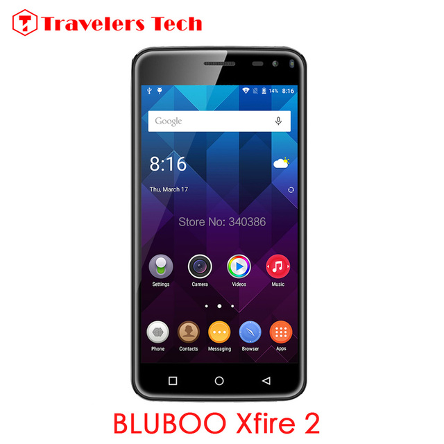 3G Smartphone Bluboo Xfire 2 Fingerprint Touch ID 5.0 Inch MTK6580 Quad Core Android 5.1 Mobile Phone1GB +8GB Dual SIM 8.0MP