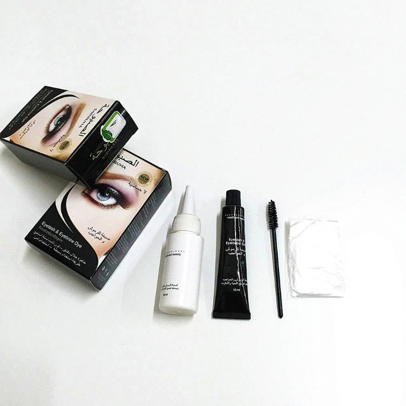 Kit de tinta universal para cílios, tintura de cílios para sobrancelha, pente permanente