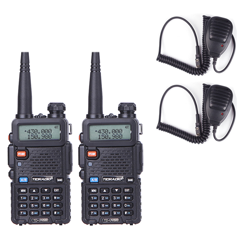 2pcs Walkie Talkie Professional CB Radio Station VHF UHF 136-174MHz 400-520MHz Portable Radio For Hunting Transceiver uv5r2pcs Walkie Talkie Professional CB Radio Station VHF UHF 136-174MHz 400-520MHz Portable Radio For Hunting Transceiver uv5r