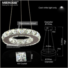 LED Crystal Chandelier Light for Aisle Porch Hallway Stairs Crystal Ring dining light wth LED Light Bulb 8 Watt 100% Guarantee